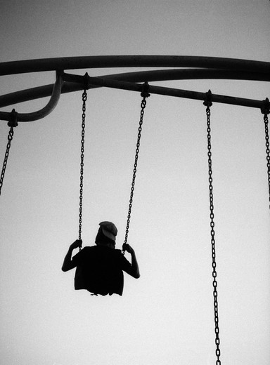 Stock Photo: 4176-22581 A person in a swing