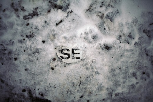 Stock Photo: 4176-23698 Close-up of alphabets on snow