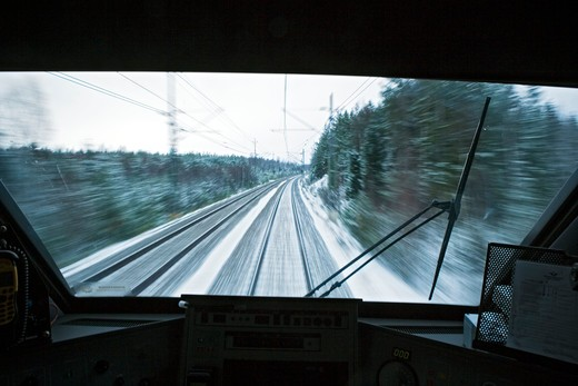 Stock Photo: 4176-24431 Control panel of a train engine, Sweden.