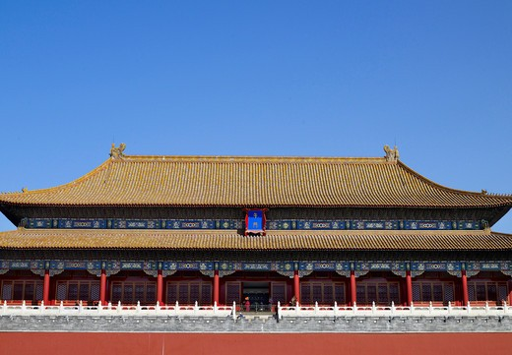 Stock Photo: 4176-24858 Exterior of Tiananmen gate, Beijing, China