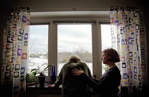 Stock Photo: 4176-25247 Comforting a man in sorrow, Kalmar, Sweden.