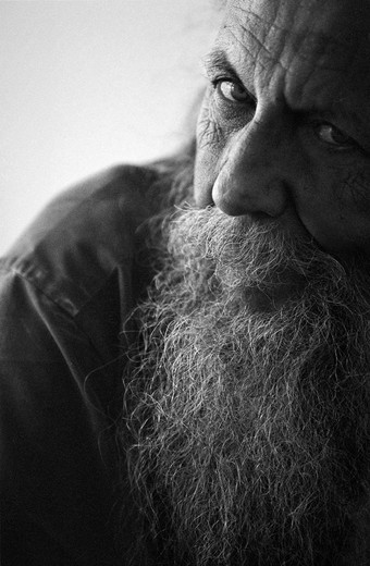 A man with a beard, Gunnar Leman, Aseda (Aseda) Sweden. : Stock Photo