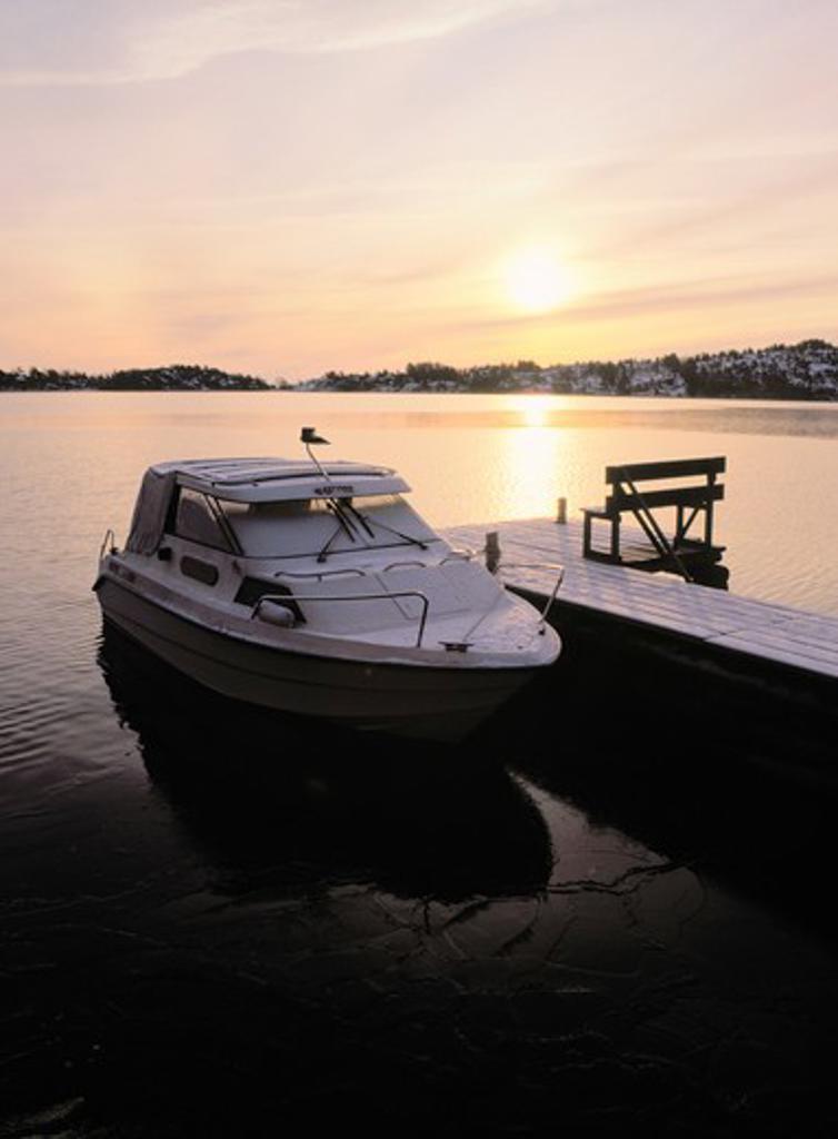Speedboat. Sweden : Stock Photo