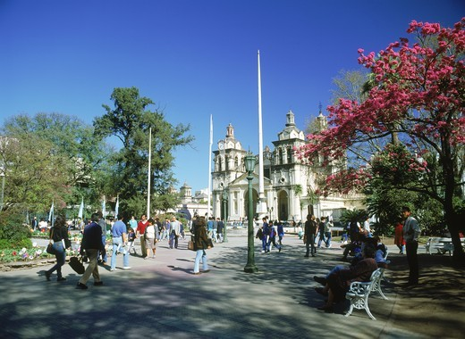 Stock Photo: 4176-27503 Cordoba Cathedral at Plaza San Martin in Cordoba Argentina
