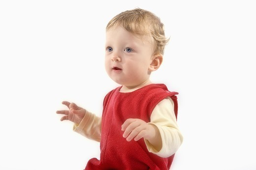 Stock Photo: 4176-28244 BABY BOY 11 MONTHS OLD