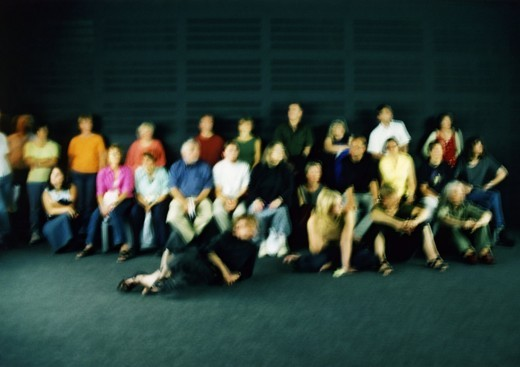 Stock Photo: 4176-30909 Blurry photo of a group of people.