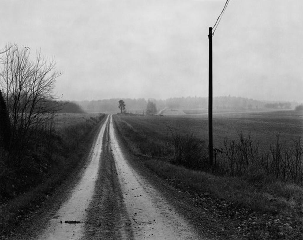 Gravelled road, Sodermanland (Sodermanland) Sweden : Stock Photo