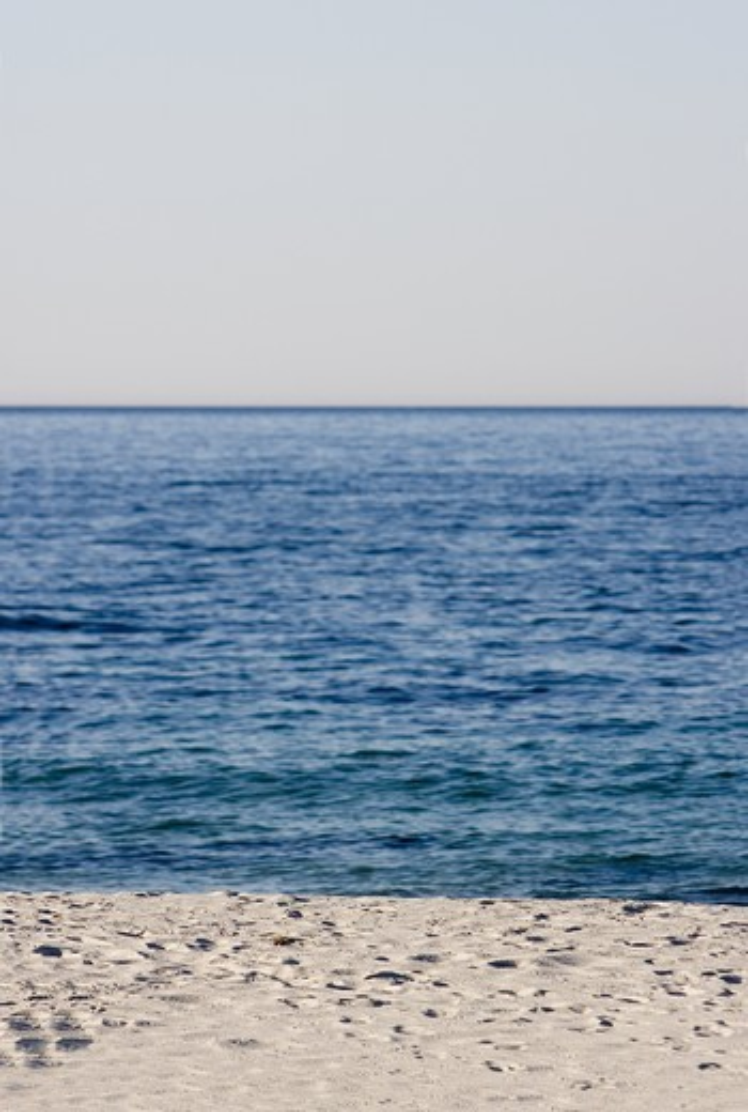 Beachfront and the horizon, Sweden : Stock Photo