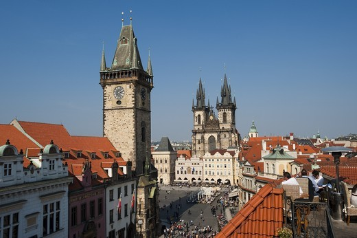 Stock Photo: 4176-35555 Old guidhall, townhall, Prague, Czech Republik