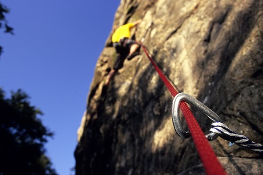 Stock Photo: 4176-36742 Rockclimbing in Bohuslan. Sweden