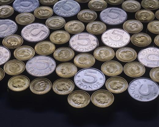 Swedish coins : Stock Photo