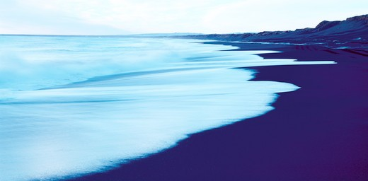 Panoramic view of the sea, Iceland : Stock Photo