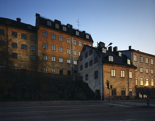 Stock Photo: 4176-37830 Apartment buildings in Stockholm, Sweden