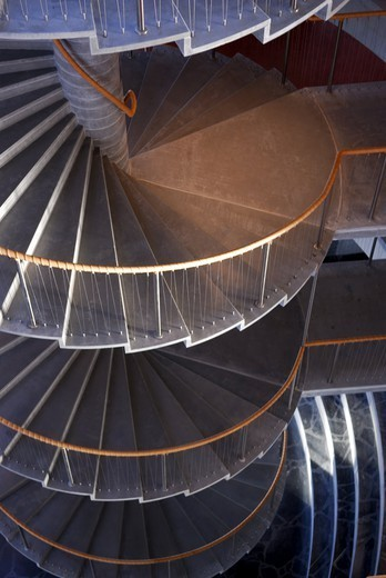 Stock Photo: 4176-38082 Winding staircase inside KILEN - an interesting building at Frederiksberg, Copenhagen, Denmark.
