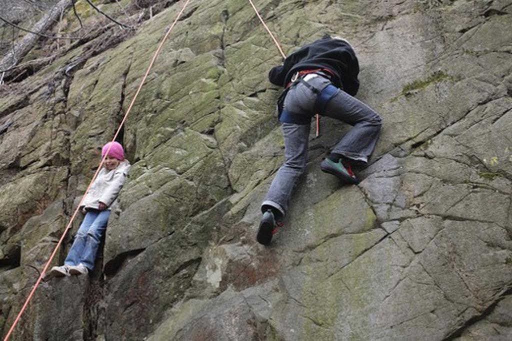 Climbing a mountain, Sweden : Stock Photo