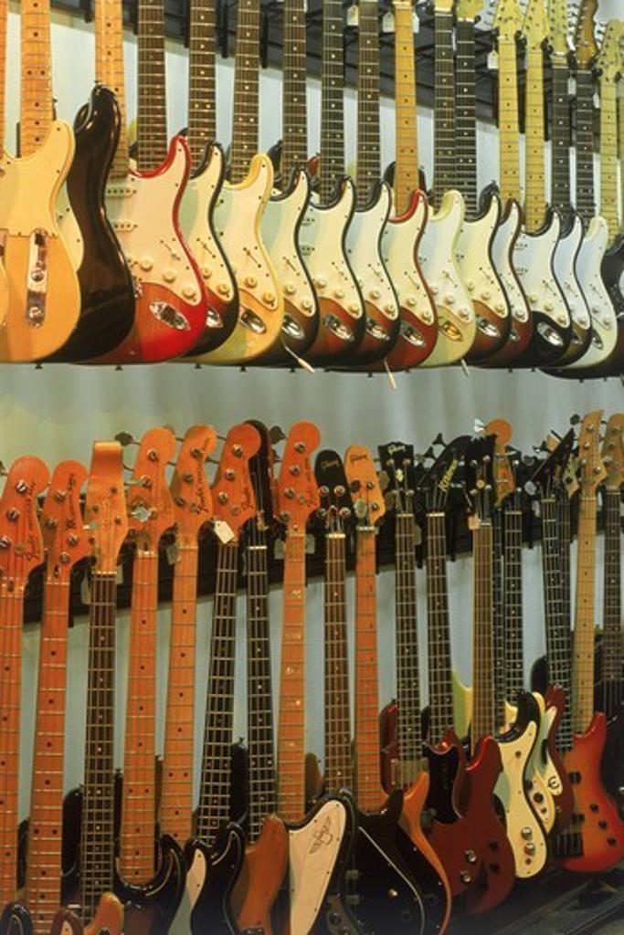 Stock Photo: 4176-5542 Grunn Guitars shop in Nashville Tennessee