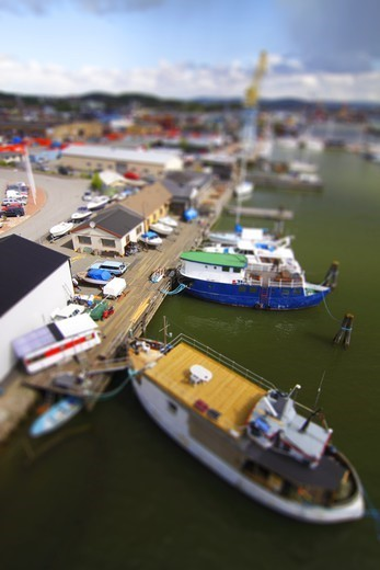 Stock Photo: 4176-56897 Tilt-Shift photo, Gothenburg (Göteborg), Sweden.