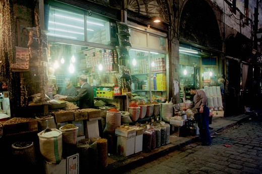Street trading. Damascus : Stock Photo