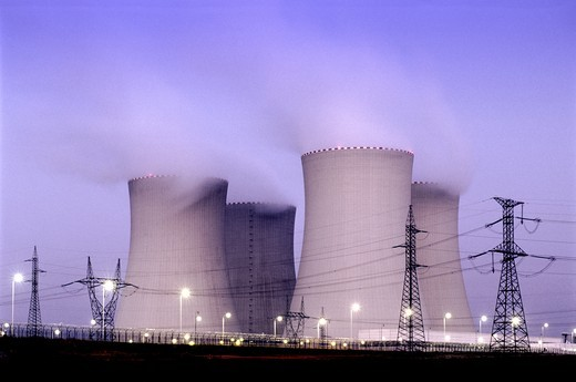 CZECH REPUBLIC SOUTHERN BOHEMIA NUCLEAR POWER PLANT TEMELIN : Stock Photo