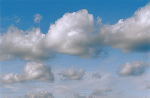 BLUE SKY WHITE CLOUDS : Stock Photo
