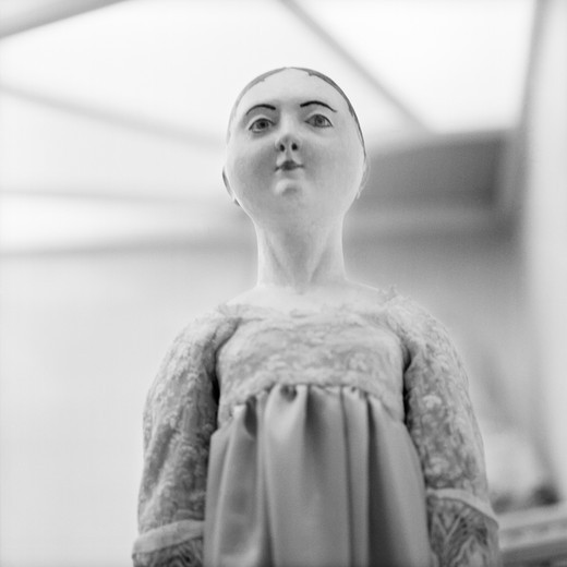 Czech Republic, Prague - Close-up of a doll in an exhibition : Stock Photo