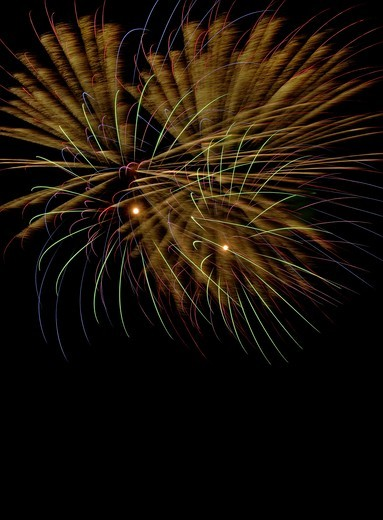 Low angle view of firework  at night : Stock Photo