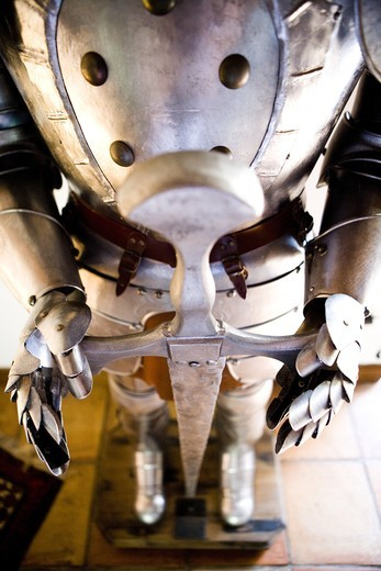 Stock Photo: 4177R-1829 Close-up of a suit of knight