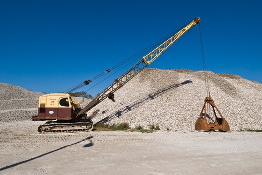 Stock Photo: 4179-42592 Oyster shells ready to be returned to Apalachicola Bay to form new oyster beds, Apalachicola, FL