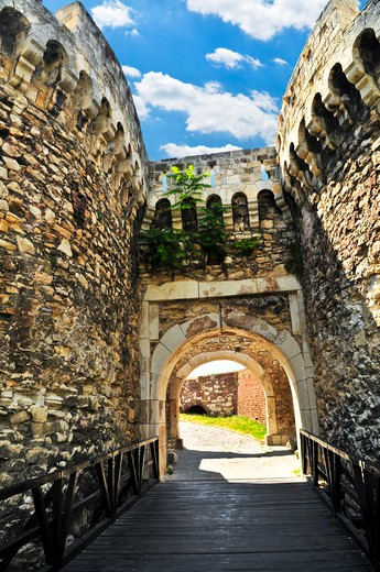 Walls and towers of Kalemegdan fortress in Belgrade Serbia : Stock Photo