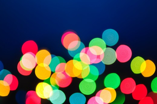 Stock Photo: 4183R-4099 Out of focus multicolored Christmas light background