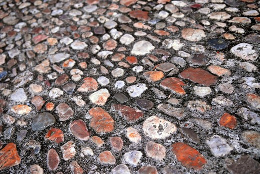 Abstract background of old medieval cobblestone pavement : Stock Photo