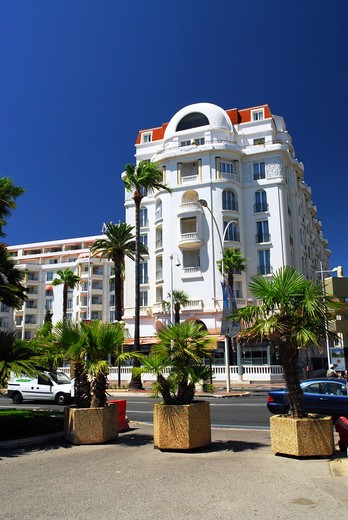 Luxury hotel on Croisette promenade in Cannes, France : Stock Photo