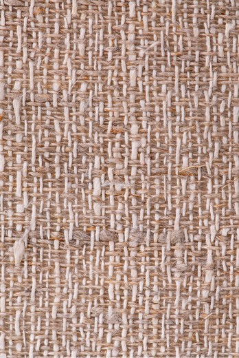 Closeup of a rustic linen fabric texture of natural color : Stock Photo
