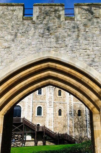 Tower of London historic building in England : Stock Photo