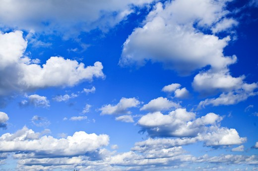 Background of blue sky with white clouds : Stock Photo