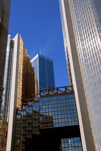 Stock Photo: 4183R-9188 Modern glass and steel skyscrapers in downtown Toronto