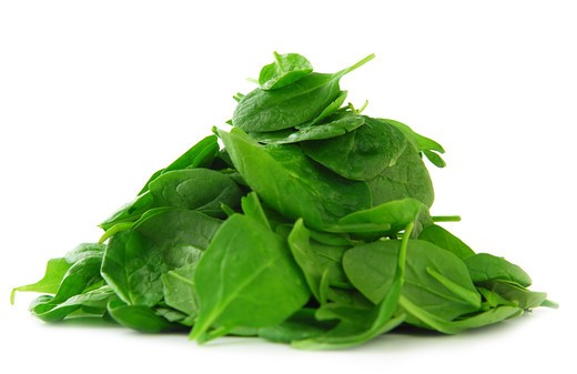 Pile of spinach isolated on white background : Stock Photo