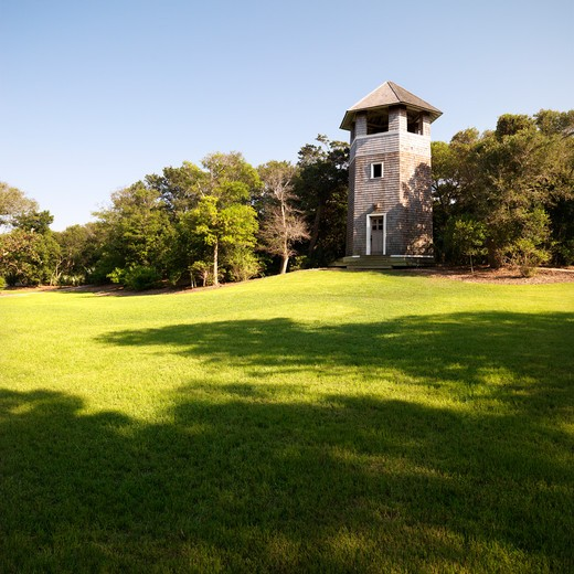 Stock Photo: 4184R-13927 Lookout tower at park in Bald Head Island, North Carolina.