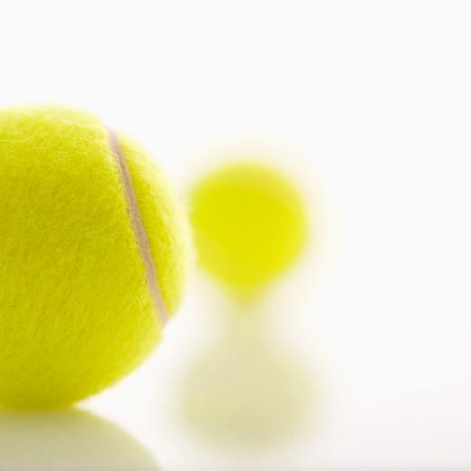 Two tennis balls. : Stock Photo