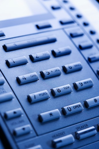 Close-up of a business telephone keypad. : Stock Photo