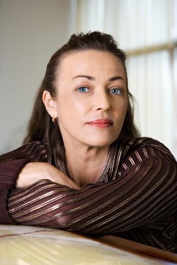 Stock Photo: 4184R-2776 Portrait of prime adult Caucasian female.