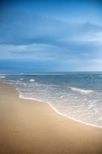 East coast Atlantic ocean beach scene. : Stock Photo