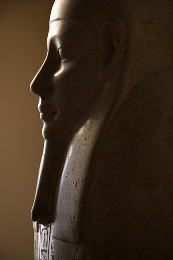 Stock Photo: 4184R-5867 Profile of Egyptian sarcophagus in the Vatican Museum, Rome, Italy.