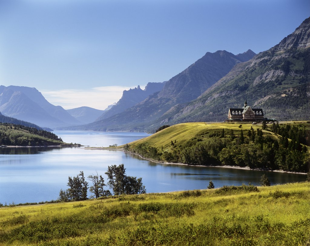 Stock Photo: 4186-10832 Prince Of Wales Hotel Waterton Lakes National Park Canada
