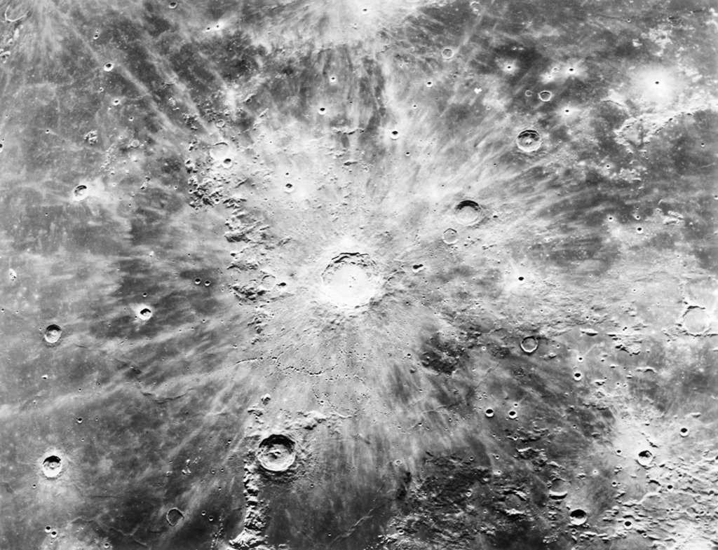1960S Craters On Lunar Surface Moon Copernicus Region : Stock Photo