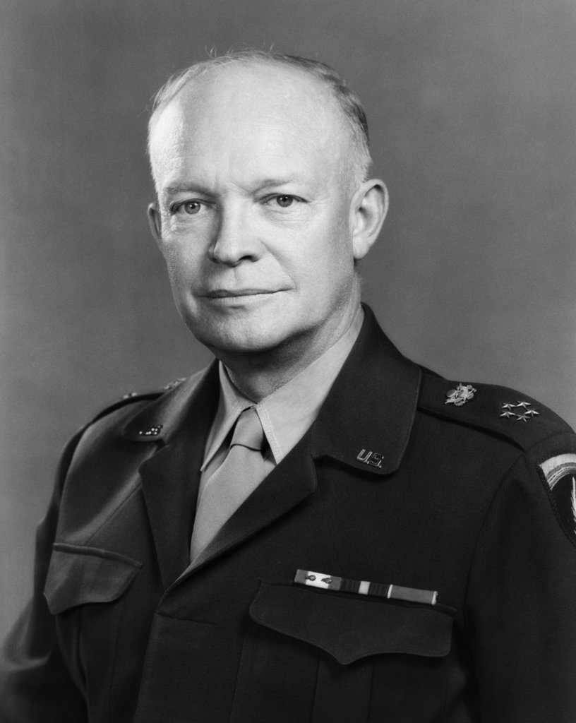 1940S Portrait Of Five Star General Of The Armies Dwight D. Eisenhower Later 34Th President Of The United States : Stock Photo