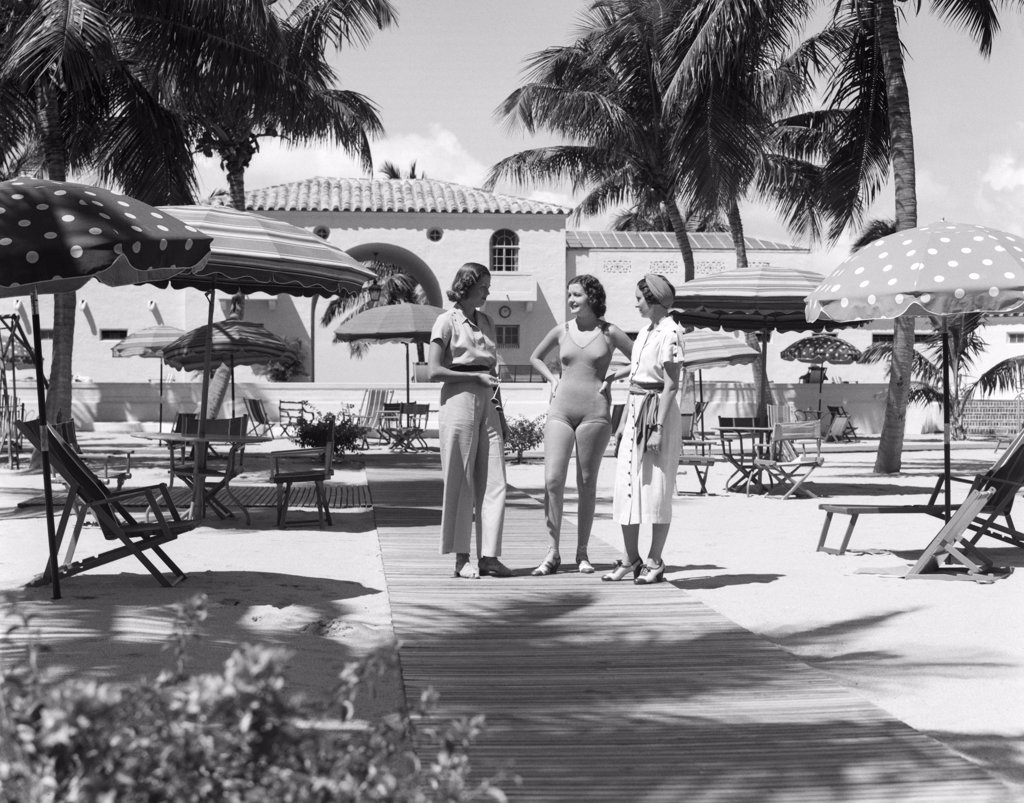 Stock Photo: 4186-15038 Cabana Club Nautilus Hotel Miami Beach Retro 1930S