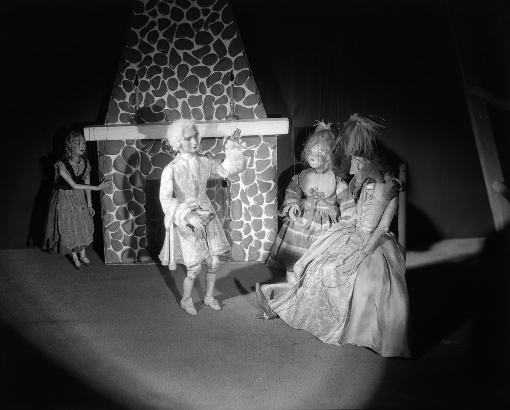 Stock Photo: 4186-15419 Puppet Show Cinderella Prince And Bad Sisters