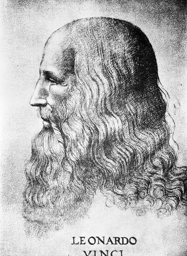 1452-1519 Self Portrait Of Leonardo Da Vinci : Stock Photo
