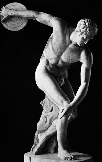 Stock Photo: 4186-17191 Classical Nude Figure Discus Thrower By Greek Sculptor Myron